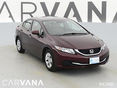 2014 Honda Civic Civic LX MAROON 2014 CIVIC with 36802 Miles for sale at Carvana