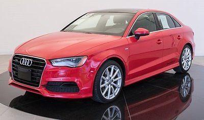 2016 Audi A3 2.0 TFSI Premium Plus S Line quattro 2016 Audi A3 2.0 TFSI Premium Plus S Line quattro 9912 Miles Red 4dr Car Interco
