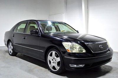 2004 Lexus LS Base Sedan 4-Door 2004 Black ls430 naviagtion black tan florida clean car