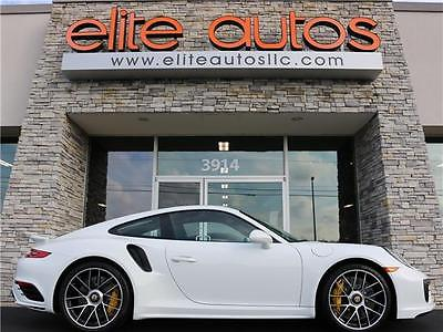 2017 Porsche 911 Turbo S 2017 Porsche 911 Turbo S 160 Miles White 2dr Car Flat 6 Cylinder Engine 3.8L 7-S