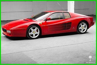 1993 Ferrari Testarossa 512 TR 1993 Ferrari 512 TR 46,790 miles 3 Owners Testarossa 4.9L V12 Rosso Corsa