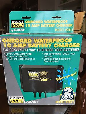 Guest Charge Pro Onboard waterproof 10 Amp Battery Charger Model 2611