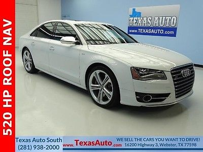 2014 Audi S8  WE FINANCE! 2014 QUATTRO TWIN TURBO 520 HP SUNROOF NAVIGATION LEATHER TEXAS AUTO