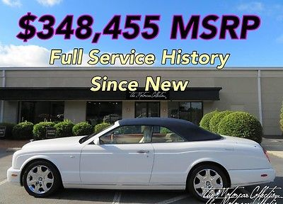2007 Bentley Azure MSRP $348,455 CLEAN CARFAX CERTIFIED! FULL SERVICE HISTORY