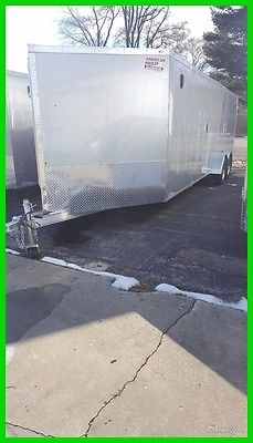 2017 American Hauler 7x29 Aluminum Flat Top Snow Trailer New