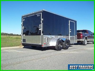 2017 7 x 14 motorcycle package New enclosed cargo trailer 7x14 v nose extra tall
