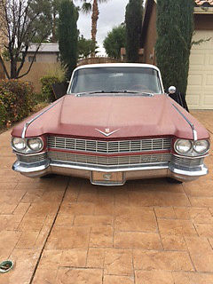1964 Cadillac DeVille silver Classic 1964 Red 4 door Cadillac Devill-- needs someone to love it and drive it!