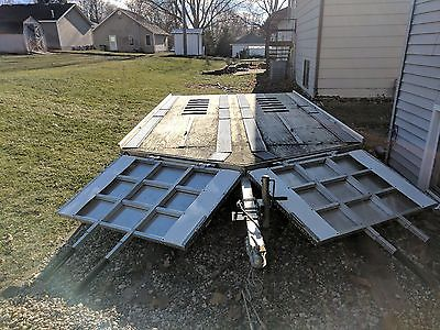 sled bed snowmobile trailer drive on/off 12ft, tandem axle