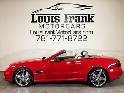 2007 Mercedes-Benz SL-Class SL55 AMG RARE MARS RED! $134K STICKER IN 07! PANO ROOF! KEYLESS GO! A/C SEATS! BLUETOOTH!