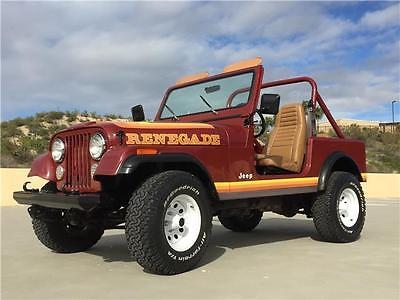1984 Jeep CJ RENEGADE 1984 JEEP CJ7 RENEGADE 4X4 JEEP LOW MILES *FREE SHIPPING W/ BUY IT NOW