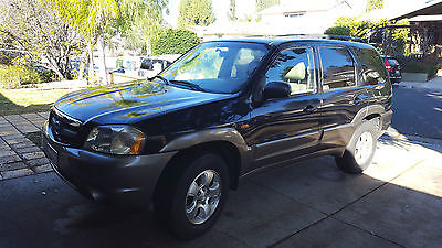 2003 Mazda Tribute ES Sport Utility 4-Door Private Party, lo mi, SUV, 6 Cyl 240 HP, Black Tan, Sunroof, Premium Rims