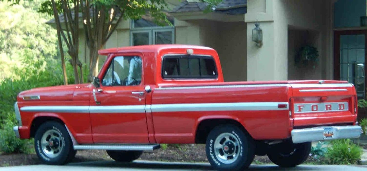 1970 Ford F-100 SILVER 1970 FORD F100 SHORT BED-CHERRY RED-NO WARRANTY