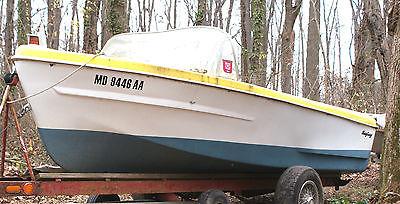 Vintage Sea Fury Outboard Fiberglass Runabout