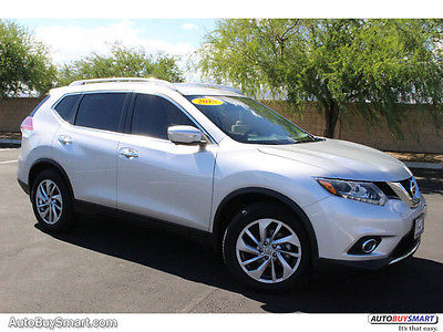 2015 Nissan Rogue SL FWD 2015 Nissan Rogue SL FWD 14868 Miles Brilliant Silver SUV 4 Automatic