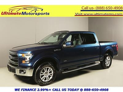 2015 Ford F-150  2015 FORD F-150 LARIAT XL CREW NAV PANO LEATHER BLIND BLUE WARRANTY