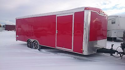 2014 Haulmark Transport Enclosed Trailer, Nearly new! 8.5' x 24' - Beautiful RED