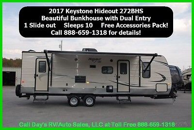 2017 Keystone Hideout 272LHS Bumper Pull Behind Camper Travel Trailer Towable RV