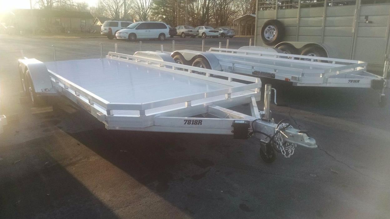 2017 Aluma 7818 New Aluminum Car Trailer