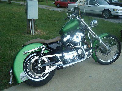 1998 Harley-Davidson Sportster  motorcycle 1998 green sportster 1200 custom