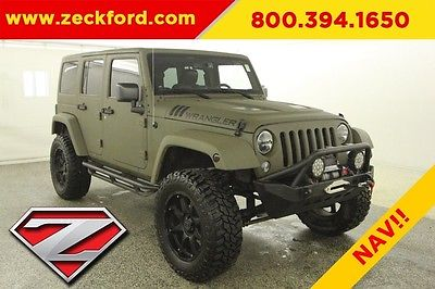 2016 Jeep Wrangler Unlimited Sport 4x4 3.6L V6 Automatic 4WD Leather Seats Lifted Navigation Reverse Cam LED Winch