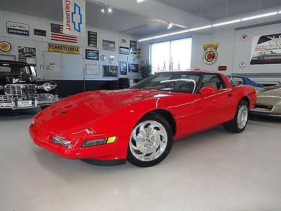 1996 Chevrolet Corvette -- 1996 CHEVROLET CORVETTE Coupe Red/Tan Automatic Like New Leather Camaro Mustang