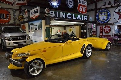 1999 Plymouth Prowler Roadster Prowler Yellow, Collector Condition, Matching Custom Trailer, A Blast To Drive!