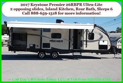 2017 Keystone Premier 26RBPR Travel Trailer Towable Bumper Pull Behind Camper RV