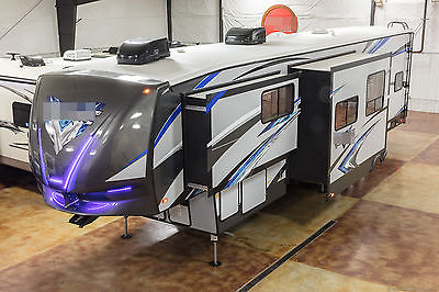 New 2017 40V12 All Season 3 Slide Out 5th Fifth Wheel Toy Hauler Master Suite