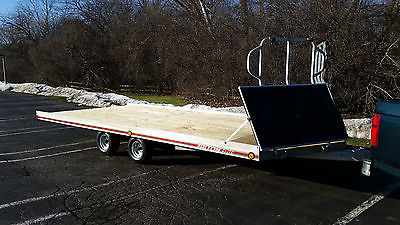Triton Elite Aluminum 4 Place Snowmobile ATV Trailer, Excellent, Ready To Roll!