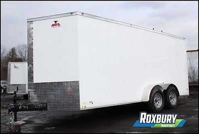 2017 Anvil 7x16 V-NOSE Enclosed Cargo Trailer 7K White 5 year warranty