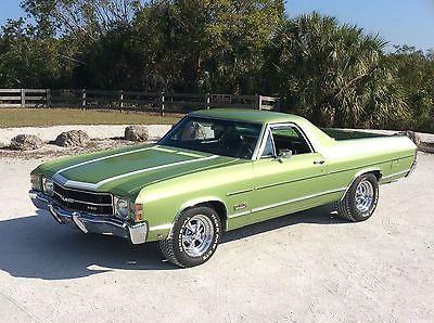 1971 Chevrolet El Camino CUSTOM 1971 GMC SPRINT CUSTOM 350 AUTO A/C P/S PDB SURVIVOR LIME GREEN CA NO RUST/ROT