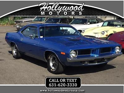 1972 Plymouth Barracuda PLYMOUTH BARRACUDA 1972 PLYMOUTH 'CUDA 340 MATCHING NUMBERS FACTORY PISTOL GRIP 4 SPEED