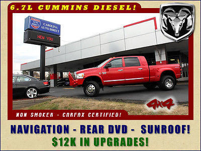 2007 Dodge Ram 3500 Laramie Mega Cab 4x4- LOADED OUT-$12K UPGRADES! NAVIGATION-REAR DVD-SUNROOF-EGR DELETE-EFI LIVE TUNER-ARP HEADSTUDS-MUCH MORE!