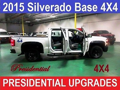 2015 Chevrolet Silverado 1500 Work Truck Crew Cab 4WD White Chevrolet Silverado 1500 with 49,000 Miles available now!