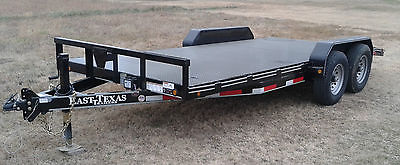 16 18 20 Foot 2017 New 14K Steel Deck Trailer 14,000 LBS DOVE TAIL 14K LB GVW