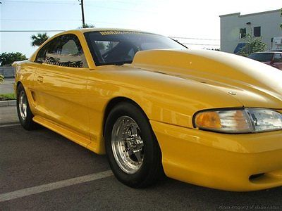 1994 Ford Mustang Cobra 1994 Mustang Cobra 90MM Turbo, Drag Race, Prostreet, Shelby 10.5 Tire Car.