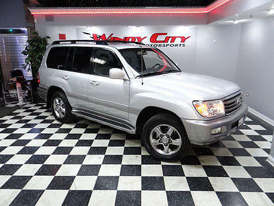 2006 Toyota Land Cruiser Base Sport Utility 4-Door 06 Toyota Land Cruiser Luxury SUV 1 Family Owned Dealer Serviced 3rd Row Nav DVD