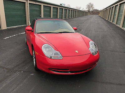 2001 Porsche 911 Carrera Cabriolet Convertible Less than 30,000 Miles with Every Option Including Color Matched Hardtop.