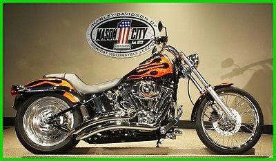 Softail Softail Custom 2007 Harley-Davidson FXSTC Softail Custom Flame Paint WATCH OUR VIDEO!