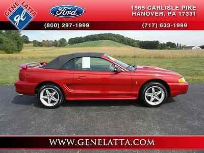 1996 Ford Mustang SVT Cobra 1996 Ford Mustang SVT Cobra Convertible