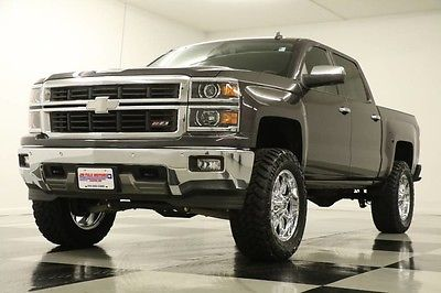 2014 Chevrolet Silverado 1500 4X4 Lifted LTZ GPS Leather Z71 Tungsten Crew 4WD Heated Cooled Camera Octane Rims 15 16 2016 14 Cab Navigation Zone Lift Gray V8
