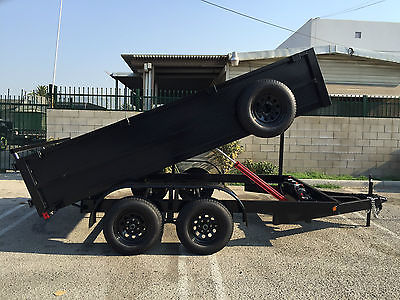 2017 8'X12'X4' DUMP TRAILER ,7,000LB GVWR,14,000LB RAM,BLACK WE MANUFACTURE SIZ