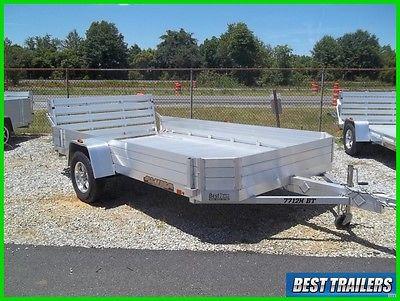 2017 aluma 7712 h bt New 77 x 12 aluminum utility trailer atv utv hauler w sides