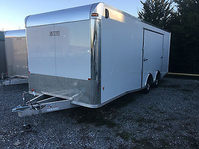 Mission 8.5'x24' All Aluminum Enclosed Trailer Car Hauler White