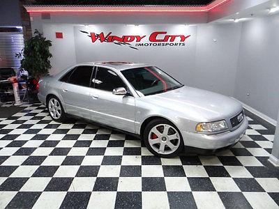 2001 Audi S8 4dr Sedan Quattro AWD Automatic 2001 Audi S8 Quattro Sport Sedan 4.2 V8 AWD Htd Alcantara Sport Seats Solar Roof