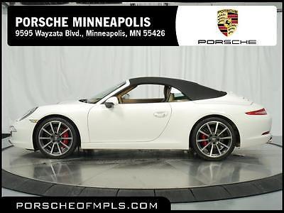 2012 Porsche 911 Carrera S Convertible 2-Door 2012 Porsche 911 Carrera S Cabriolet (Porsche Preowned Certified)