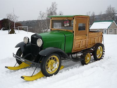 1930 Ford Model A  1930 Ford Model A Snowmobile