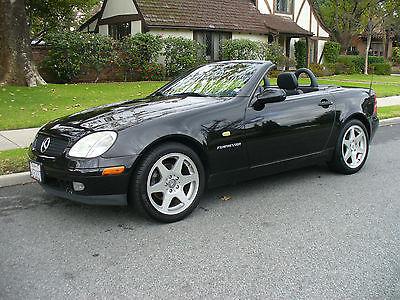 2000 Mercedes-Benz SLK-Class Black Beautiful Calfornia Rust Free  Mercedes Benz SLK 230 Conv. Rare 5 Speed Manual