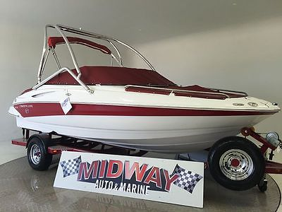 2007 Crownline 200LS Runabout, I/O, Bowrider, Stern Drive surf wakeboard openbow