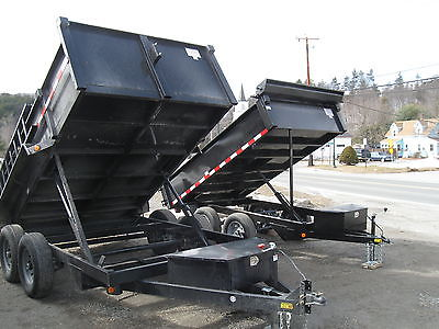 New 2017 Quality 7 x 14 14K Dump Equipment Trailer with Ramps